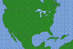 Textured USA Map Stock Photography