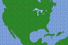 Textured USA Map Stock Photography