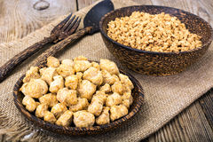 Textured vegetable protein, soy meat for a vegetarian diet Stock Images