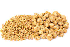 Textured vegetable protein, soy meat for a vegetarian diet Stock Image