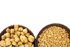 Textured vegetable protein, soy meat for a vegetarian diet Royalty Free Stock Photography