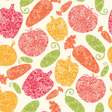 Textured vegetables seamless pattern background Royalty Free Stock Images