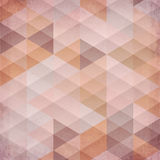 Textured vintage beige vector triangles background Stock Photography