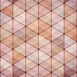 Textured vintage beige vector triangles background Royalty Free Stock Images