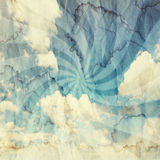 Textured vintage cloudy sky background Royalty Free Stock Photography