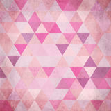 Textured vintage pink vector triangles background Stock Photo