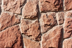 Textured wall background of stone Stock Images