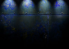 Textured Wall with Night Lights Royalty Free Stock Photo