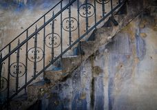 Textured wall with stairs Stock Image