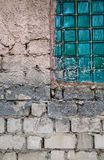 Textured wall with window Royalty Free Stock Photo