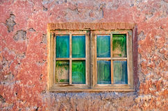 Textured wall and window Stock Photography