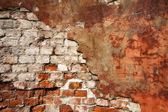 Textured Wall With Brick And Stucco Royalty Free Stock Photos