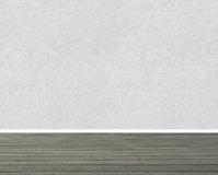 Textured wall with wooden floor panels Stock Photo