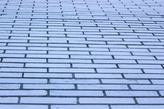 Textured white brick wall. Horizontal. Clear space Royalty Free Stock Photo