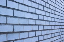 Textured white brick wall. Horizontal. Clear space Royalty Free Stock Image