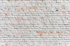 Textured white brick wall Stock Images
