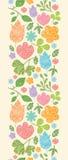 Textured wiosna zasadza pionowo bezszwowego wzór ilustracji