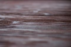 Textured wood background with selective focus Royalty Free Stock Photo