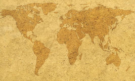 Textured world map Royalty Free Stock Photography