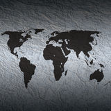 Textured world map Royalty Free Stock Photos