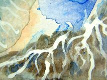 Texturen 12 van de waterverf Stock Afbeelding