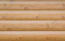 Texturen av den behandlade beigea träjournalnärbilden för naturligt ljus, Fotografering för Bildbyråer