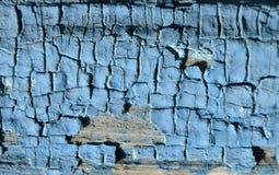 Texturen av den blåa målarfärgen Arkivbilder
