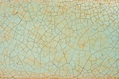 Texturen av den gamla keramiska tegelplattan Royaltyfri Foto