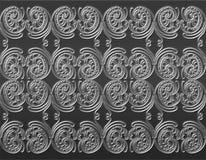 Texturen av den mönstrade metallen Arkivbild