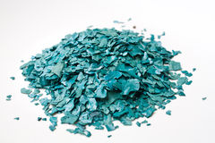 Texturen av den torkade Spirulina flingan Royaltyfri Bild