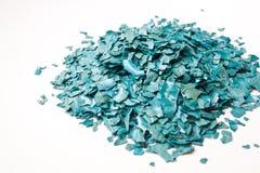Texturen av den torkade Spirulina flingan Royaltyfri Foto