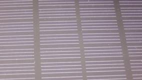 Texturen av det sol- batteriet arkivfilmer