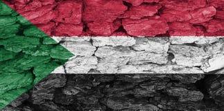 Texturen av flaggan Sudan royaltyfri illustrationer