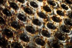 Texturen av metallrastret 8 Arkivfoton