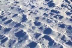 Texturen av snön Arkivbild