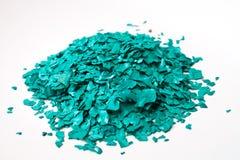 Texturen av Spirulina den sol torkade flingaprodukten Royaltyfria Bilder