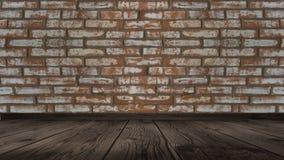 Texturen av tegelstenen är gammal, skrapat arkivfoto