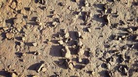 Texturen av vägen med grus Royaltyfri Fotografi