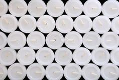 Texturen av vita stearinljus. Arkivbild