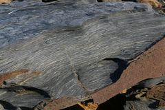 Texturen en vormen in rotsen Stock Foto's