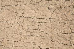 Texturen - grond - gebarsten vuil Stock Foto's