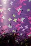 Texturen met gekleurde vlinders stock afbeelding