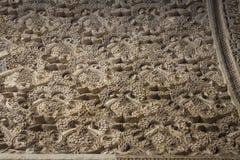 Texturen in monumenten van Sevilla stock foto's