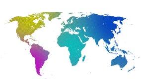 Texturen van Aardekaart worden geweven 02 die vector illustratie