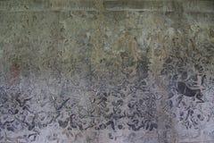 Texturen van Angkor Wat Temple, Kambodja Stock Foto
