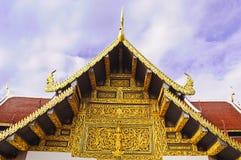 Textureon dorato il tetto Fotografia Stock
