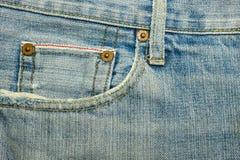 Texturer av jeans Arkivfoto