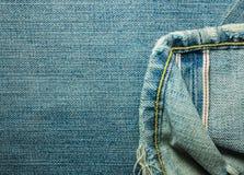 Texturer av jeans Royaltyfri Bild