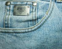 Texturer av jeans Arkivbilder