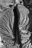 Texturer av lava i Hawaii Arkivbilder